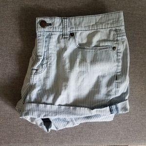 J Crew Pinstripe Jean Shorts